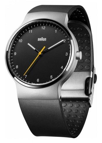 BN0221, Braun, Prestige 40mm, Black Dial, Rubber Strap
