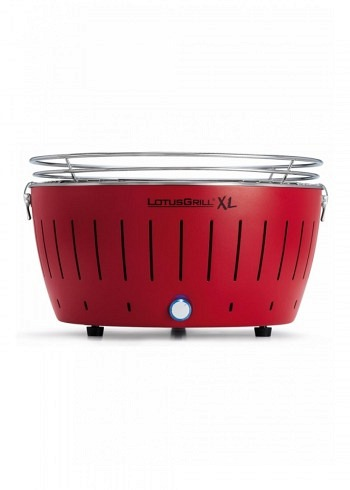 9208240, Lotus XL, Charcoal Barbecue 40cm, Red