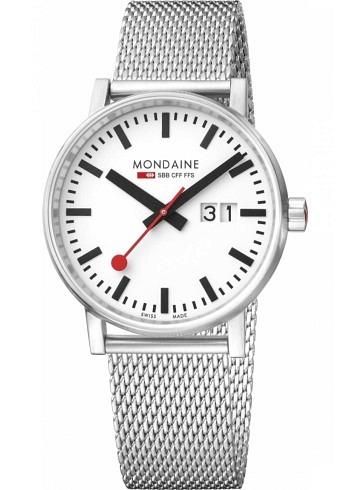 MSE.40210.SM, Mondaine, EVO2 Big 40mm, White Dial, Stainless Steel Bracelet