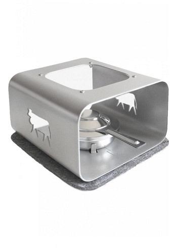 "6719926, Steinlin, rechaud ""Cow"", silver, 24cm"